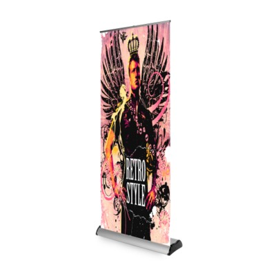 Picture of EXCALIBER ROLLER BANNER in Silver