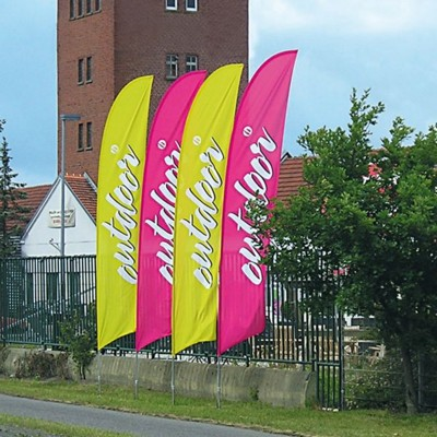 Picture of FEATHER FLAG BANNER with Car Wheel Base