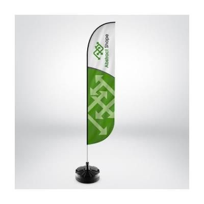 Picture of RHINO FEATHER FLAG POLE KIT with Printed Flag & Rhino Small Water & Sand Cross Base