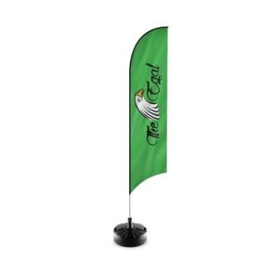 Picture of RHINO FEATHER FLAG POLE KIT with Printed Flag & Ground Spike Base