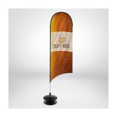 Picture of RHINO TEAR DROP FLAG POLE KIT with Printed Flag & Rhino Small Water & Sand Base