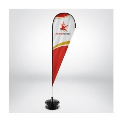 Picture of RHINO TEAR DROP FLAG POLE KIT with Printed Flag & Rhino Large Water Base