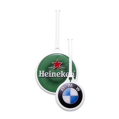 Picture of 60 MM WHITE PLASTIC FLEXI GOLF BAG TAG