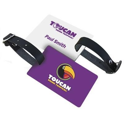 Picture of PVC LUGGAGE TAG with Black Leatherette Strap