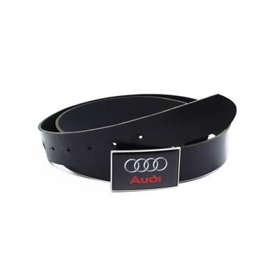 Picture of LEATHER BELT with Full Colour Logo Dome