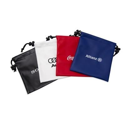 Picture of LEATHERETTE EMBROIDERED DRAWSTRING GOLF GIFT BAG