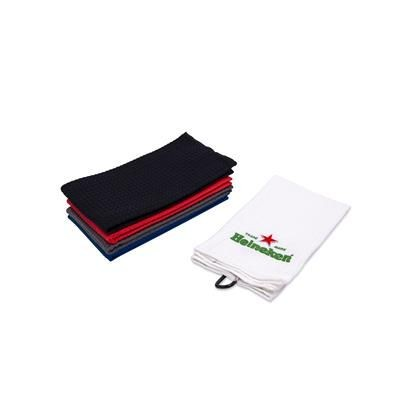 Picture of WAFFLE TRI FOLDING EMBROIDERED GOLF TOWEL