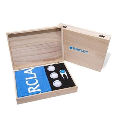 Picture of WOOD CONTEMPORARY GOLF PRESENTATION GIFT BOX