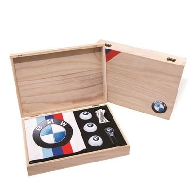 Picture of WOOD GEO GOLF PRESENATION GIFT BOX