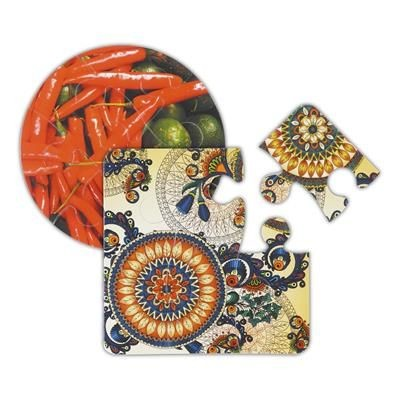 Picture of GNALVIC PVC SIX PIECE JIGSAW PUZZLE COASTER