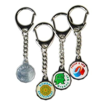 Picture of METAL TROLLEY MATE COIN KEYRING in Silver