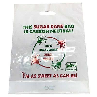 Picture of SUGAR CANE CARRIER BAG in White