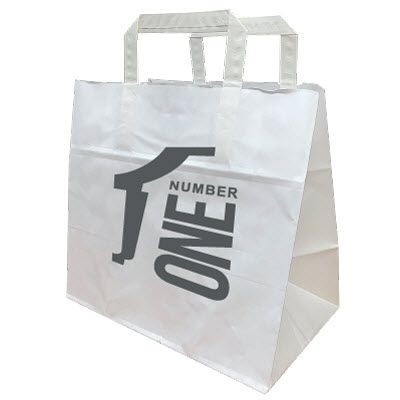 Picture of PAPER TAPE HANDLE TAKEAWAY BAG