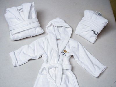 Picture of HOODED HOODY CHILDRENS BATHROBE DRESSING GOWN
