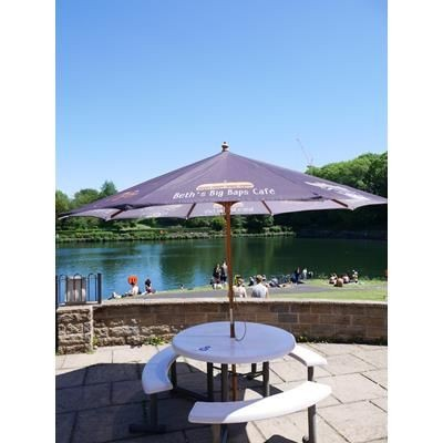 Picture of 3M SQUARE WOOD PARASOL