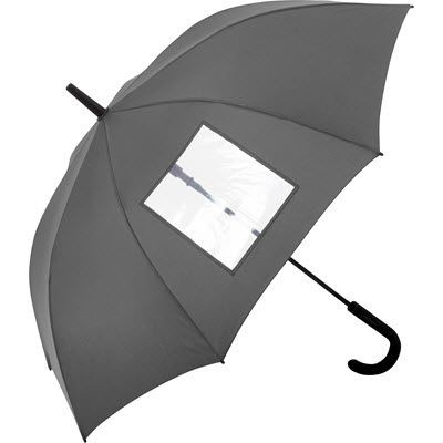 Picture of SPECIAL AUTOMATIC REGULAR UMBRELLA with Clear Transparent Window in Grey