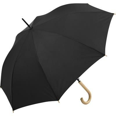 Picture of SUSTAINABLE AUTOMATIC REGULAR UMBRELLA with Cover in Black