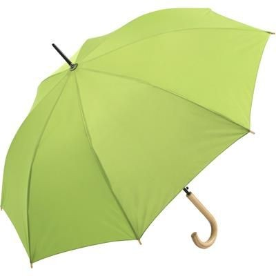 Picture of SUSTAINABLE AUTOMATIC REGULAR UMBRELLA with Cover in Lime