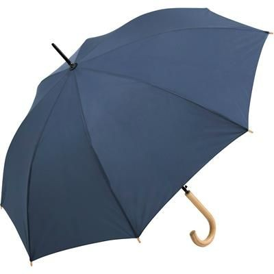 Picture of SUSTAINABLE AUTOMATIC REGULAR UMBRELLA with Cover in Navy