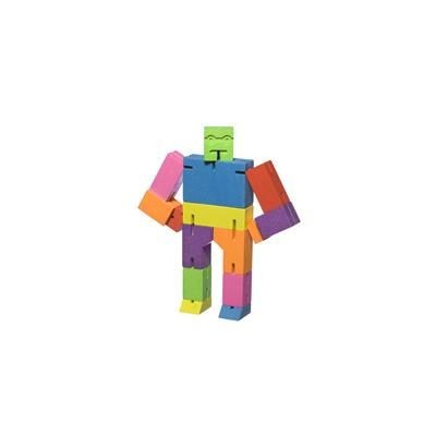 Picture of CUBEBOT SMALL WOOD ROBOT PUZZLE in Multi Colour
