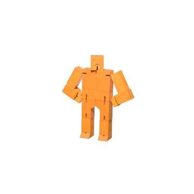 Picture of CUBEBOT SMALL WOOD ROBOT PUZZLE in Orange