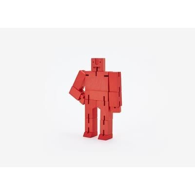 Picture of CUBEBOT SMALL WOOD ROBOT PUZZLE in Red