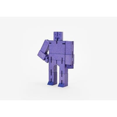 Picture of CUBEBOT SMALL WOOD ROBOT PUZZLE in Violet