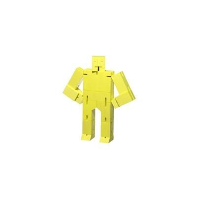 Picture of CUBEBOT SMALL WOOD ROBOT PUZZLE in Yellow
