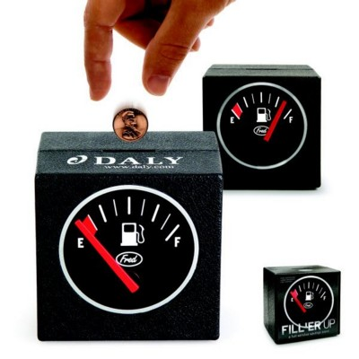 Picture of FILL ER UP COIN BANK MONEY BOX in Black