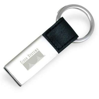 Picture of METAL KEYRING in Silver & Black