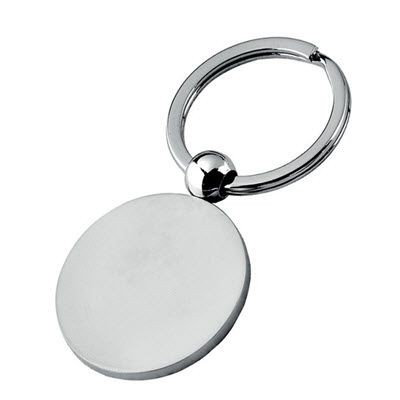 Picture of SILVER CHROME ROUND KEYRING