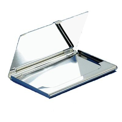 Picture of SILVER PLATED METAL BUSINESS CARD OR CREDIT CARD HOLDER CASE