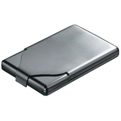 Picture of BRUSHED SILVER CHROME METAL BUSINESS CARD OR CREDIT CARD HOLDER CASE