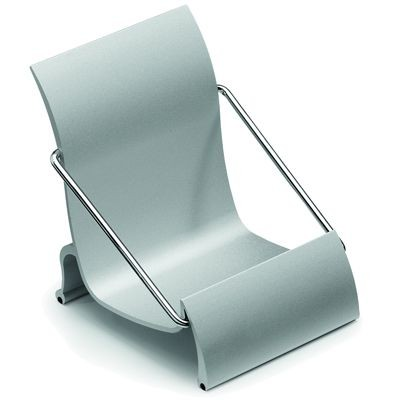 Picture of SATIN ALUMINIUM SILVER METAL MOBILE PHONE HOLDER STAND in Chair Shape