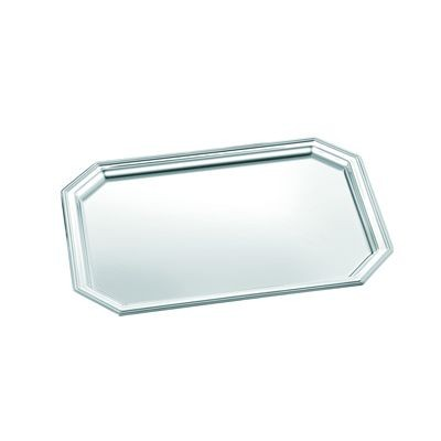 Picture of OCTAGONAL METAL SERVING TRAY in Silver