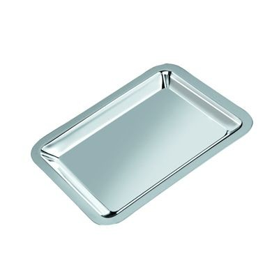 Picture of SMALL METAL SERVING TRAY in Silver