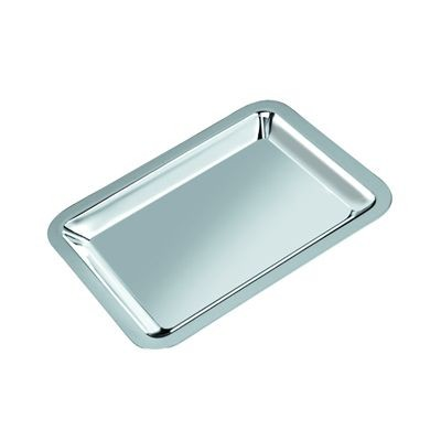 Picture of MEDIUM METAL SERVING TRAY in Silver