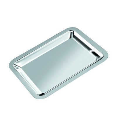 Picture of LARGE METAL SERVING TRAY in Silver