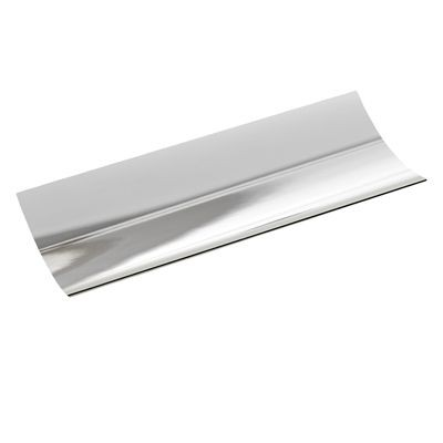Picture of CONCAVE METAL SERVING TRAY in Silver