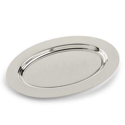 Picture of SMOOTH OVAL METAL PLATE in Silver