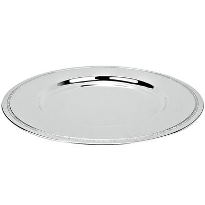 Picture of ROUND METAL UNDERPLATE in Silver