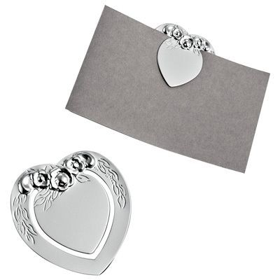 Picture of METAL HEART BOOKMARK in Silver with Decorations