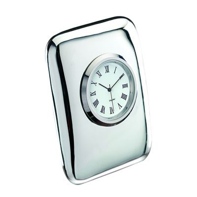 Picture of TIFFANY SILVER RING METAL DESK CLOCK in Silver
