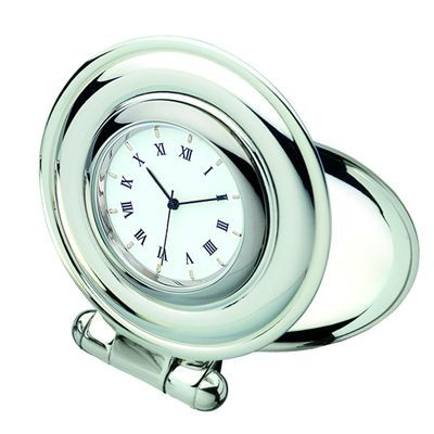 Picture of SHELL SILVER RING METAL DESK CLOCK in Silver