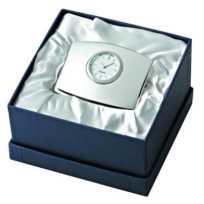 Picture of JUMBO METAL DESK CLOCK in Silver