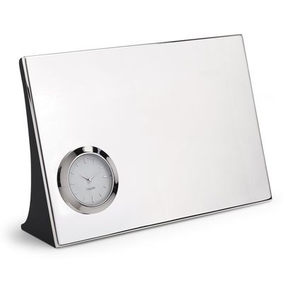 Picture of ENGRAVERS METAL DESK CLOCK in Silver