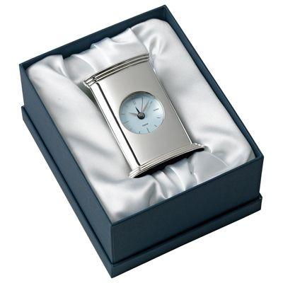 Picture of EMPIRE METAL DESK ALARM CLOCK in Silver