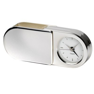 Picture of AURELIA METAL FOLDING TRAVEL ALARM CLOCK in Silver