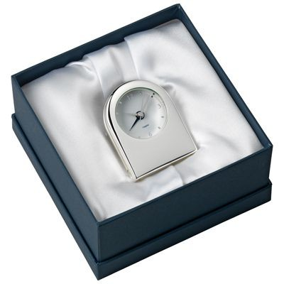Picture of METAL TRAVEL ALARM CLOCK in Silver