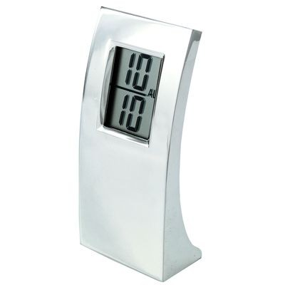 Picture of ARC METAL DIGITAL ALARM CLOCK in Silver